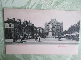 Bruxelles  . Place Anneessens . Dos 1900 - Piazze