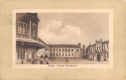 "0106 ""(CUNEO)  ALBA - PIAZZA GARIBALDI""  ANIMATA. CART   SPED 1916 - Cuneo"