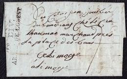 ARMÉE DE L'OUEST. LETTRE DE LA 2E DIVISION DE L'ARMÉE DE L'OUEST EN NOIRE. 1794. NIORT POUR LIMOGE. - Sellos De La Armada (antes De 1900)