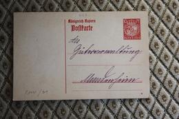 Ganzsache P 101 I / 01 -  Siehe Beschreibung ( 447 ) - Bayern (Baviera)