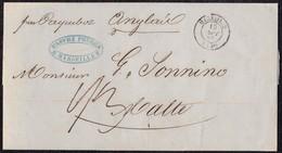 """1850. MARSEILLE POUR MALTE. AU VERSO MARQUE POSTALE """"PURIFIÉE AU LAZARET/MALTE"""" EN NOIRE. - Marcofilia (sobres)"""
