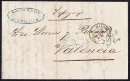 1856. MARSEILLE POUR VALENCE. LETTRE CIRCULÉE PAR VOIE DE MER. INTÉRESSANTE. - Marcofilia (sobres)