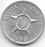 *cuba 5 Centavos 1972  Km 34 Xf+ - Cuba