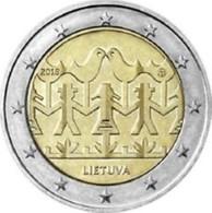 Litauen  2018  2 Euro  Commemo  Dansfestival  Festival De Dance    UNC Uit De Rol  UNC Du Rouleaux  !! - Lituania
