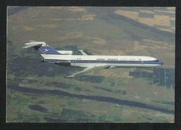 Kuwait Airways Picture Postcard Boeing 727  Airplane View Card - Kuwait