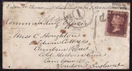 1873. LISBOA A INGLATERRA. RARA CARTA CON TARIFA POSTAL MILITAR DE 1 PENIQUE. - Cartas