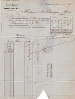 Lettre Lyon Rhône 1869 Comptoir Lyonnais Droche Robin & Cie Thiers Puy De Dôme - 1849-1876: Période Classique