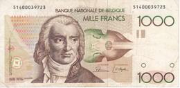 BILLETE DE BELGICA DE 1000 FRANCOS DEL AÑO 1980-96  (BANK NOTE) - [ 2] 1831-... : Belgian Kingdom