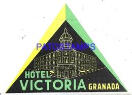 95721 SPAIN ESPAÑA GRANADA HOTEL VICTORIA LUGGAGE NO POSTAL POSTCARD - Hotel Labels