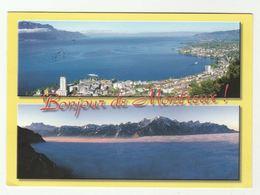2016 SWITZERLAND COVER (postcard MONTREUX) To GB Flowers Flower Stamps - Switzerland
