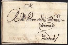 1669. LYON A MADRID. SELLO PLACADO EN SECO AL DORSO. REMITIDA POR ROLAND Y GASPARINI. CARTA COMPLETA SIGLO XVII. - ....-1700: Précurseurs