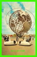 EXPOSITION, NEW YORK WORLD'S FAIR 1964-1965 - UNISPHERE SHOWING ESCORTERS  - ANIMATED - - Expositions