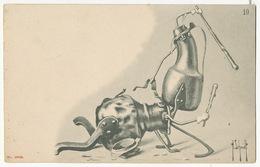 Surrealisme Par H. Schmidt Cafetieres Combattantes Café .  Edit Killinger Et Faivret Suisse Undivided Back - Illustrateurs & Photographes