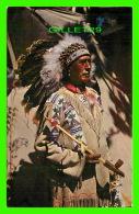 INDIENS - CHIEF RUNNING HORSE - TRAVEL IN 1957 - H. S. CROCKER CO INC - - Indiens De L'Amerique Du Nord
