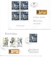 5018u: Bregenzer Festspiele, 2 Briefe Mit Reko- Provisorium PA 6844 - 1945-.... 2. Republik