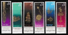 ISRAEL, 1965, Mint Never Hinged Stamp(s), Jewish New Year, SG 317-322,  Scan 17104, With Tab(s) - Israel