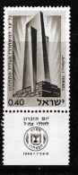ISRAEL, 1966, Mint Never Hinged Stamp(s), Memorial Day, SG 327,  Scan 17107, With Tab(s) - Israel