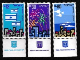 ISRAEL, 1966, Mint Never Hinged Stamp(s), Independence Day, SG 328-330,  Scan 17146, With Tab(s) - Israel