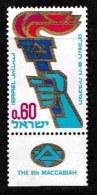 ISRAEL, 1968, Mint Never Hinged Stamp(s),  Makkabiade, SG 411,  Scan 17110, With Tab(s) - Israel
