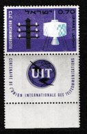 ISRAEL, 1965, Mint Never Hinged Stamp(s),  I.T.U., SG 411,  Scan 17112, With Tab(s) - Israel