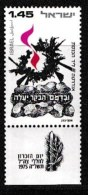 ISRAEL, 1975, Mint Never Hinged Stamp(s), Memorial Day, SG 599,  Scan 17118, With Tab(s) - Israel