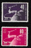 ISRAEL, 1950, Mint Never Hinged Stamp(s), U.P.U. 75 Years, SG 27-28,  Scan 17122, Without Tab(s) - Israel