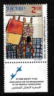 ISRAEL, 2001, Mint Never Hinged Stamp(s), Akim Ass. For Mentaly Handicapped, M 1647,  Scan 17131, With  Tab(s) - Israel