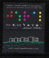 ISRAEL, 2001, Mint Never Hinged Stamp(s), Institute For The Blind, M 1645,  Scan 17133, With  Tab(s) - Israel