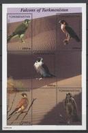 Turkmenistan 2000 Mi Block 8(71-75) Native Hawks / Einheimische Falken **/ MNH - Aigles & Rapaces Diurnes