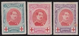 Belgie    .    OBP    .    132/134      .    *  .     Ongebruikt Met Plakker  .  /  .  Neuf Avec   Charniere - 1914-1915 Croix-Rouge