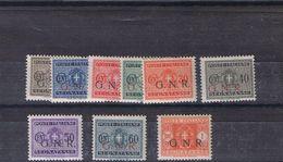 Segnatasse GNR Numeri Sassone 47-55  **perfetti** - 4. 1944-45 Social Republic