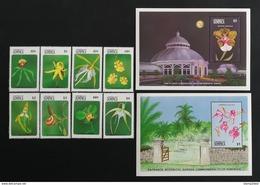 Dominica 1989** Mi.1223-30 + Bl.153, 154. Flowers [18;174] - Planten