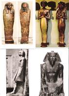 4 Cards - Kairo - Cairo - Ägyptisches Egypt Museum - King Chephren - Sarg Des Petubast - Schatz Des Tut Ench Amun - Museen