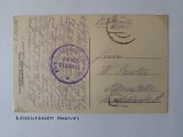 Cachet Hopital Militaire FOURMIES 1918 - Kriegslazarett Fourmies - 1918 - 1. Weltkrieg 1914-1918