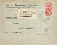 RSI81-Raccomandata Con 2,50 £ Fratelli Bandiera 31.3.1945 - Non Comune - 4. 1944-45 República Social