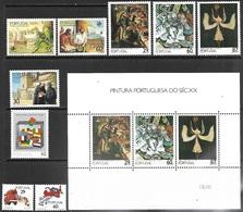 Portugal  1989  Sc#1751-6a, 1772-4  Sets MNH  2016 Scott Value $15.60 - 1910-... República