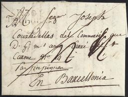 """1816. TOLOSA A BARCELONA. MARCA """"P.30.P./TOULOUSE"""" NEGRO. MNS. R REALES Y TRAZO FRANQUEO. 5 DÉCIMAS SATISFECHAS. - 1801-1848: Precursores XIX"""