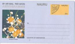 Nauru Aerogramme In Mint Condition 25 C. Tomano Flower - Nauru