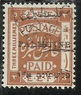 PALESTINE PALESTINA 1920 OVERPRINTED OF 1918 SOPRASTAMPATO 3m USATO USED OBLITERE' - Palestina