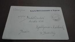 1471.Envelope Virpazar - Laibach  Ljubljana  2. XI 1918. K.u.k. Bezirkskommando In VI.PARZAR   WW 1 - Slovenia