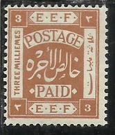 PALESTINE PALESTINA 1918 3m MH - Palestina