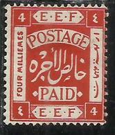 PALESTINE PALESTINA 1918 4m MH - Palestina