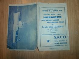 Horaires Autocars De La Corniche D'Or Hiver 56/57 ST RAPHAEL - Europe