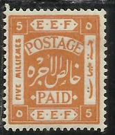 PALESTINE PALESTINA 1918 5m MH - Palestina