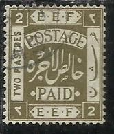 PALESTINE PALESTINA 1918 2pi USATO USED OBLITERE' - Palestina