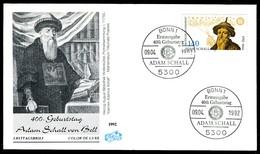 03548) BRD - Mi 1607 - FDC - 140Pf     Johann Adam Schall Von Bell - [7] República Federal