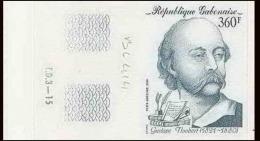 0908a Gabon (gabonaise) Essai Proof Non Dentelé Imperforate ** MNH N° 231 Flaubert Ecrivain (writter) - Writers