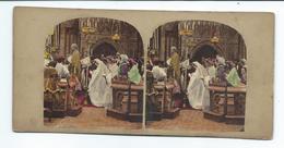 PHOTO STEREO Circa 1860..Alfred SILVESTER ?..Scène De Genre... MARIAGE... 2 Scans - Stereoscopic