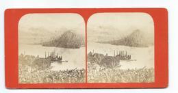 PHOTO STEREO Circa 1870 Eugène DEGAND (1829-1911) ?? .DUINGT Et TALLOIRES..Librairie L. HOSTE à Annecy (74) - Photos Stéréoscopiques