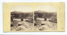 PHOTO STEREO Circa 1865..Alexandre DAVANNE ?? ..Panorama De NICE (06), La Place Napoléon - Fotos Estereoscópicas
